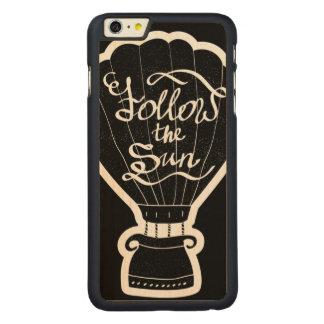 Follow The Sun Carved® Maple iPhone 6 Plus Case