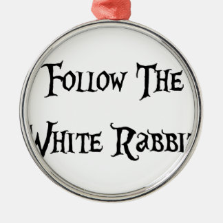 Follow the White Rabbit Alice Christmas Ornament