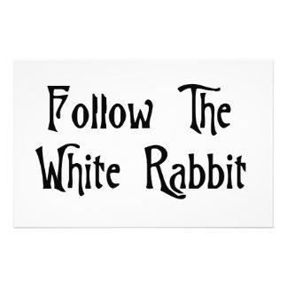 Follow The White Rabbit Customised Stationery