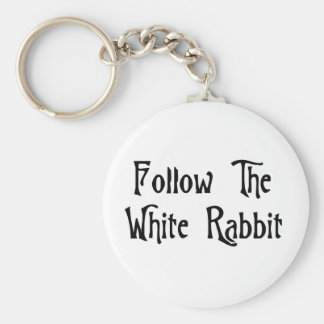 Follow The White Rabbit Key Ring