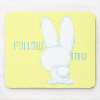 follow the white rabbit mouse mat