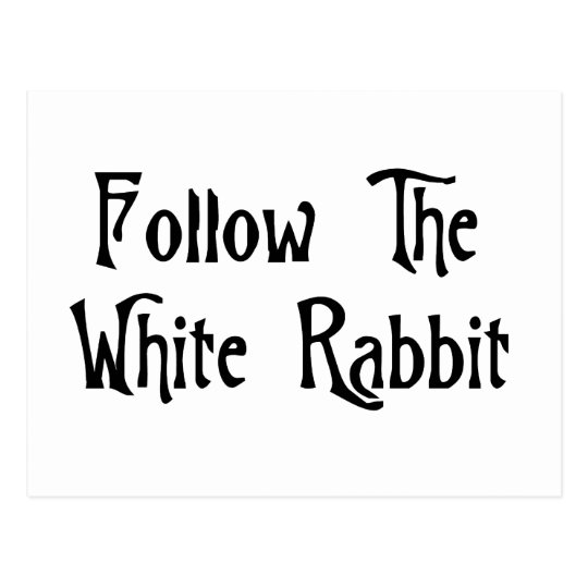 Follow The White Rabbit Postcard