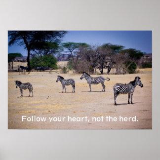 Follow you heart poster