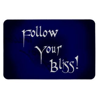 Follow Your Bliss! Rectangular Photo Magnet