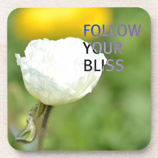 Follow Your Bliss White Tulip Coasters