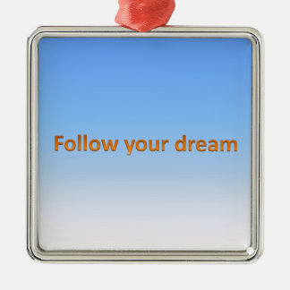 follow your dream christmas ornament