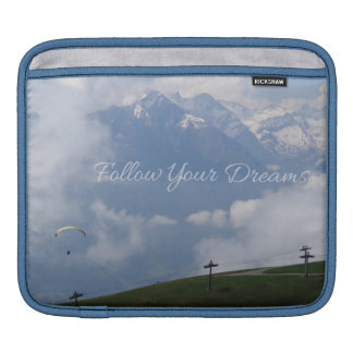 Follow Your Dreams custom iPad sleeves