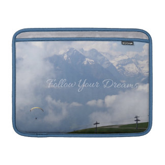 Follow Your Dreams custom MacBook sleeves
