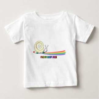 Follow Your Fun Cute Snail Rainbow Baby T-Shirt