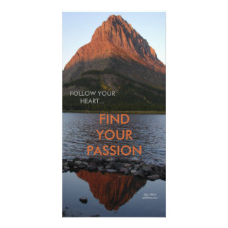 FOLLOW YOUR HEART,FIND YOUR PASSION CUSTOMISED PHOTO CARD