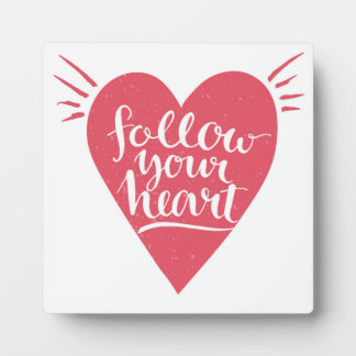Follow Your Heart Photo Plaques