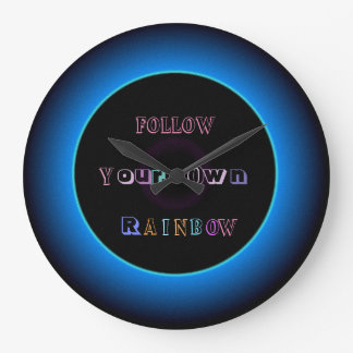 """Follow Your Own Rainbow ""> Illuminated Wall Clock"