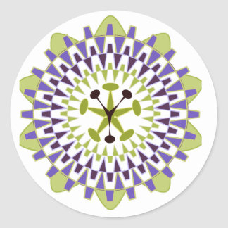 Follow Your Passion - Passion Flower Round Sticker