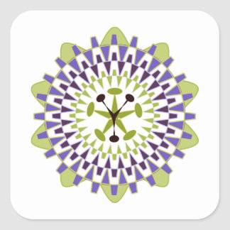 Follow Your Passion - Passion Flower Square Sticker