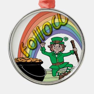 Follow your rainbow christmas ornaments