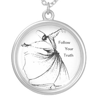Follow Your Truth Round Pendant Necklace