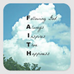 Following God... Square Sticker
