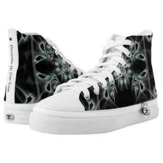 Following Own Star Abstract Black & White Pattern High Tops