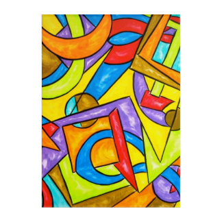 Following The Instructions-Abstract Art Geometric