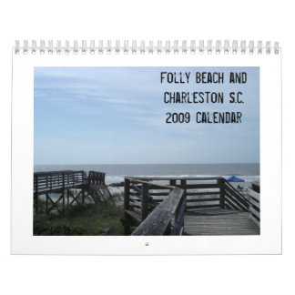 Folly Beach and Charleston S.C. 20... Wall Calendar
