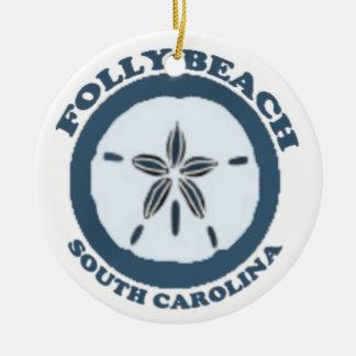 Folly Beach. Christmas Ornament
