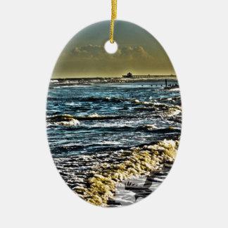 Folly Beach, SC Christmas Ornament