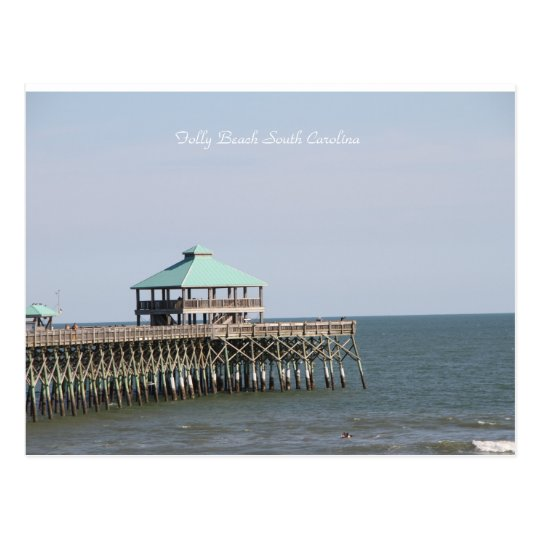 Folly Beach SC, Pier, Charleston, Photography Postcard