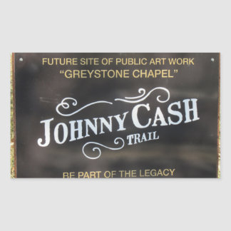 Folsom Icon: Sign on the Johnny Cash Trail Rectangular Sticker