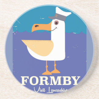 Fomby Lancashire seagull travel poster Coaster