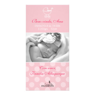 Fond card of the Baby Girl Picture Card