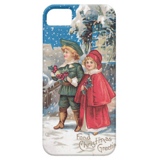 Fond Christmas Greeting Vintage Card iPhone 5 Cases