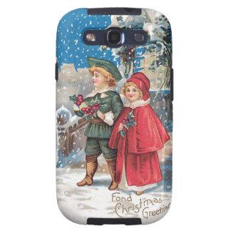 Fond Christmas Greeting Vintage Card Galaxy SIII Cases