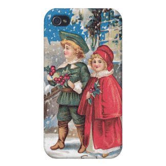 Fond Christmas Greeting Vintage Card iPhone 4 Case