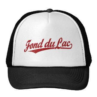 Fond du Lac script logo in red Cap