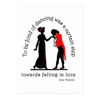Fond of Dancing Postcard