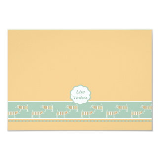 Fond of Dogs Children's Personalized Stationery 9 Cm X 13 Cm Invitation Card