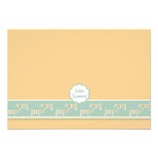 Fond of Dogs Children's Personalized Stationery Custom Invitations