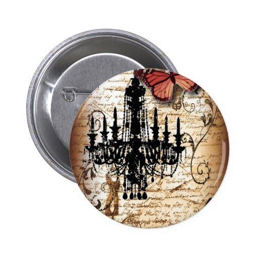 fondo vintage chandelier butterfly fashion button