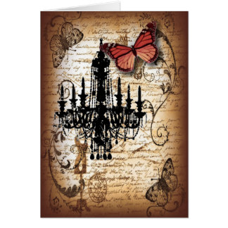 fondo vintage chandelier butterfly fashion cards