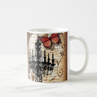 fondo vintage chandelier butterfly fashion coffee mug