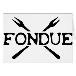 fondue icon greeting card