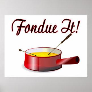 Fondue It Fondue Set Poster
