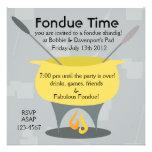 Fondue Time! Custom Invitation