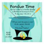 Fondue Time! Personalised Invitation