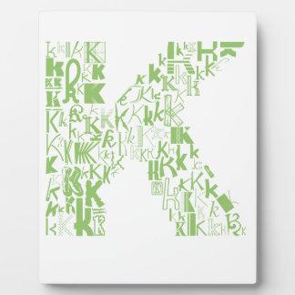 Font Fashion K Plaque