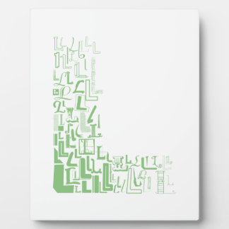 Font Fashion L Plaque