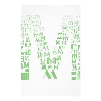 Font Fashion M Customized Stationery