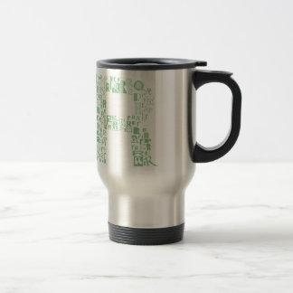 Font Fashion R Travel Mug
