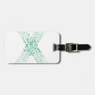 Font Fashion X Luggage Tag