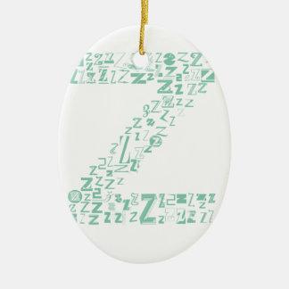 Font Fashion Z Ceramic Oval Decoration